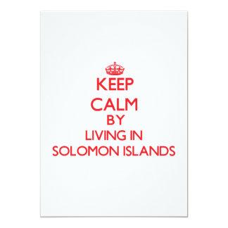Guarde la calma viviendo en Solomon Island Anuncio
