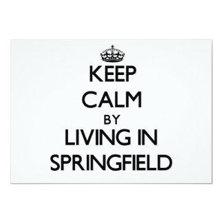 Guarde la calma viviendo en Springfield Invitaciones Personales