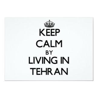 Guarde la calma viviendo en Teherán Invitacion Personalizada