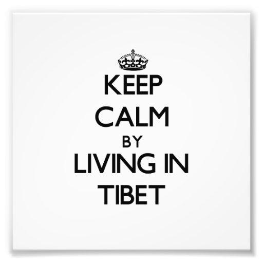Guarde la calma viviendo en Tíbet Foto