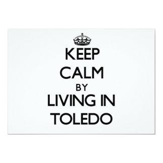 Guarde la calma viviendo en Toledo Invitaciones Personalizada