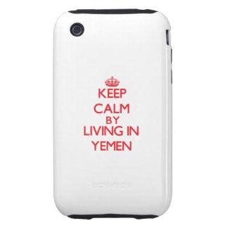 Guarde la calma viviendo en Yemen iPhone 3 Tough Carcasas
