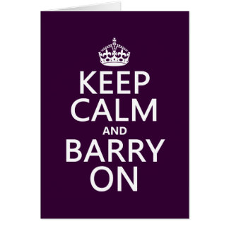 Guarde la calma y a Barry en (cualquier color de f Felicitacion