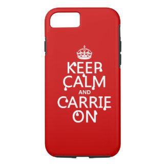 Guarde la calma y a Carrie encendido - sangre - Funda iPhone 7
