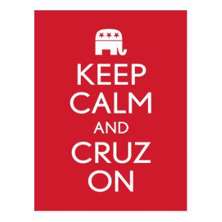 Guarde la calma y a Cruz 2016 Postales