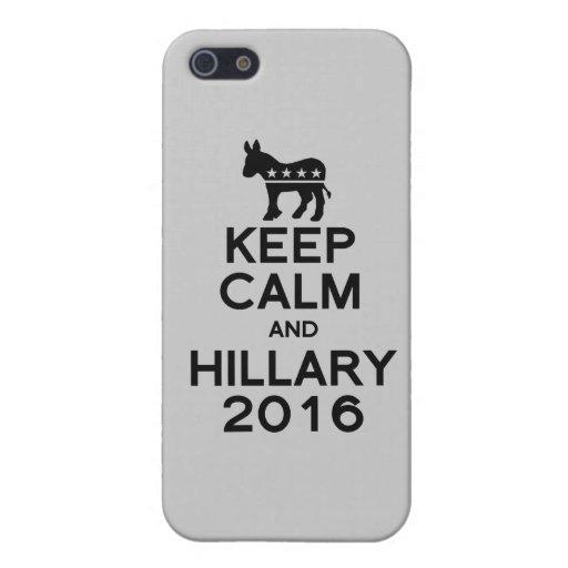 GUARDE LA CALMA Y A HILLARY 2016 - .PNG iPhone 5 FUNDAS