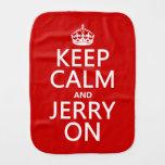 Guarde la calma y a Jerry encendido Paños Para Bebé