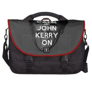 Guarde la calma y a John Kerry encendido Bolsa Para Ordenador