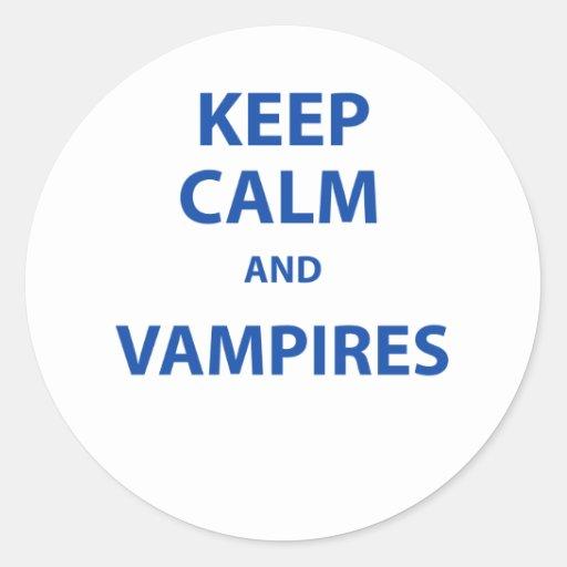 ¡Guarde la calma y a los vampiros! Pegatina