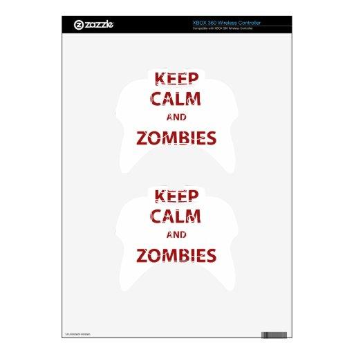 Guarde la calma y a los zombis mando xbox 360 skins