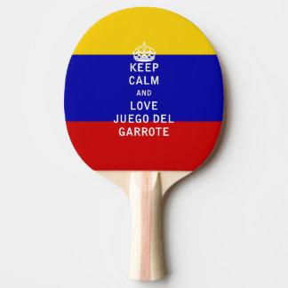 Guarde la calma y a Love Juego del Garrote Pala De Tenis De Mesa