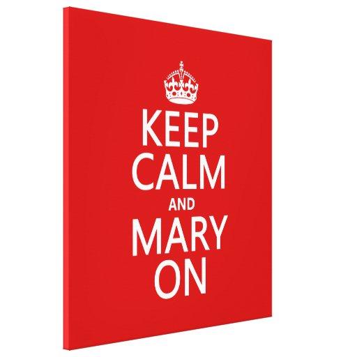 Guarde la calma y a Maria en (el color cambiable) Impresion En Lona