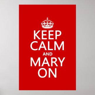 Guarde la calma y a Maria en (el color cambiable) Impresiones