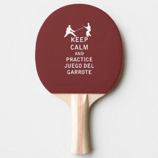 Guarde la calma y a Practice Juego del Garrote Pala De Tenis De Mesa