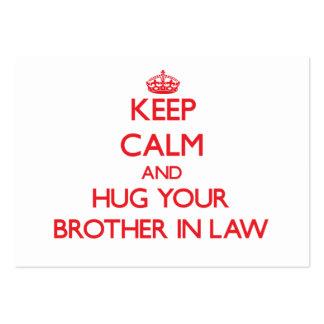 Guarde la calma y ABRACE a su cuñado