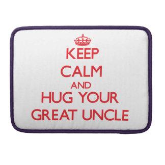 Guarde la calma y ABRACE a su gran tío Funda Para Macbooks