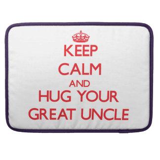 Guarde la calma y ABRACE a su gran tío Funda Para Macbook Pro