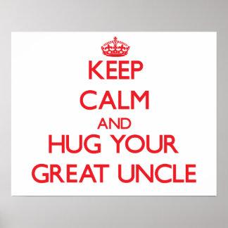 Guarde la calma y ABRACE a su gran tío Impresiones