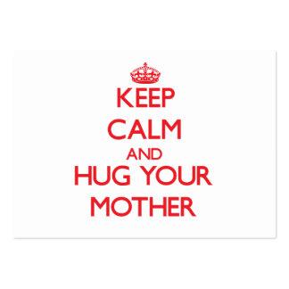 Guarde la calma y ABRACE a su madre Plantilla De Tarjeta Personal