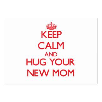 Guarde la calma y ABRACE a su nueva mamá Plantillas De Tarjeta De Negocio