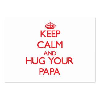 Guarde la calma y ABRACE a su papá Plantilla De Tarjeta De Visita