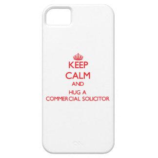 Guarde la calma y abrace a un abogado comercial iPhone 5 carcasas