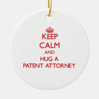 Guarde la calma y abrace a un abogado de patentes ornato