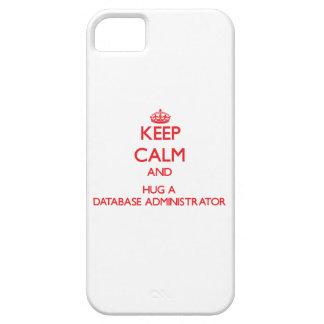 Guarde la calma y abrace a un administrador de iPhone 5 cárcasa