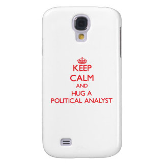 Guarde la calma y abrace a un analista político funda para galaxy s4