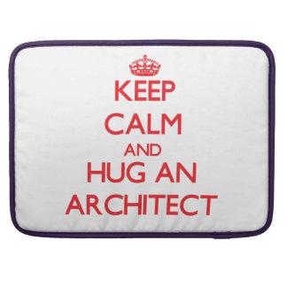 Guarde la calma y abrace a un arquitecto fundas macbook pro