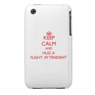 Guarde la calma y abrace a un asistente de vuelo iPhone 3 cobertura