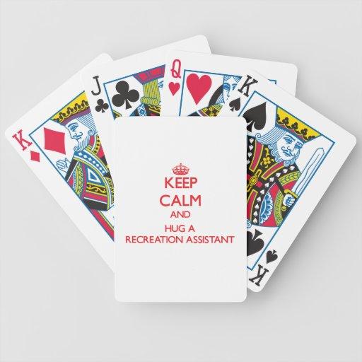 Guarde la calma y abrace a un ayudante de la recon cartas de juego