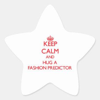 Guarde la calma y abrace a un calculador de la calcomania forma de estrella personalizadas