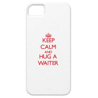 Guarde la calma y abrace a un camarero iPhone 5 fundas
