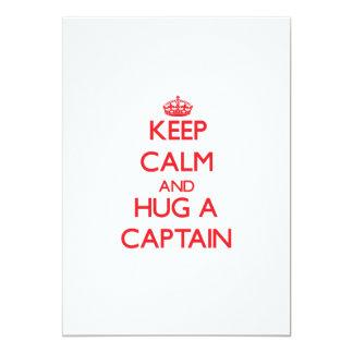 """Guarde la calma y abrace a un capitán invitación 5"""" x 7"""""""