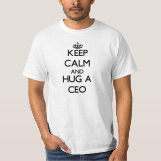 Guarde la calma y abrace a un CEO Playera