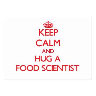 Guarde la calma y abrace a un científico de la com plantilla de tarjeta de visita