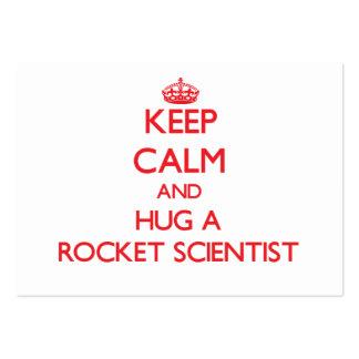 Guarde la calma y abrace a un científico de Rocket Tarjeta De Visita