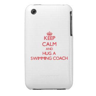 Guarde la calma y abrace a un coche de la natación Case-Mate iPhone 3 fundas