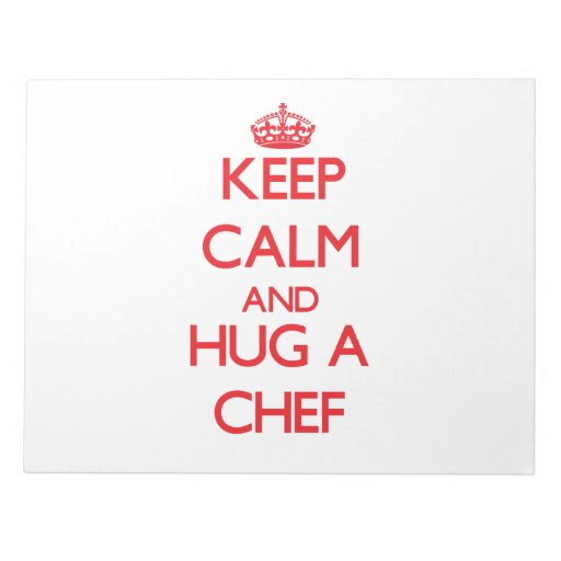 Guarde la calma y abrace a un cocinero blocs