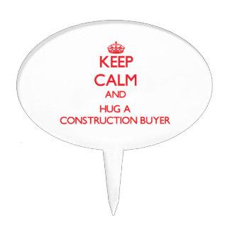 Guarde la calma y abrace a un comprador de la cons decoración de tarta