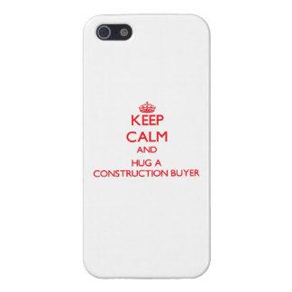 Guarde la calma y abrace a un comprador de la cons iPhone 5 fundas