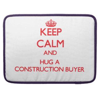 Guarde la calma y abrace a un comprador de la cons fundas para macbook pro