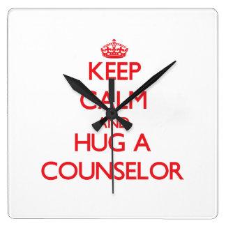 Guarde la calma y abrace a un consejero relojes