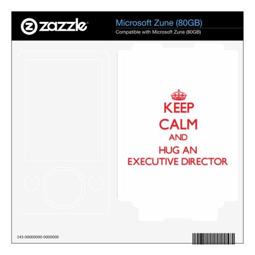 Guarde la calma y abrace a un director ejecutivo skin para el zune