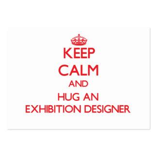 Guarde la calma y abrace a un diseñador de la expo tarjetas de negocios