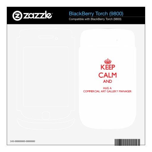 Guarde la calma y abrace a un encargado de la gale calcomanías para BlackBerry