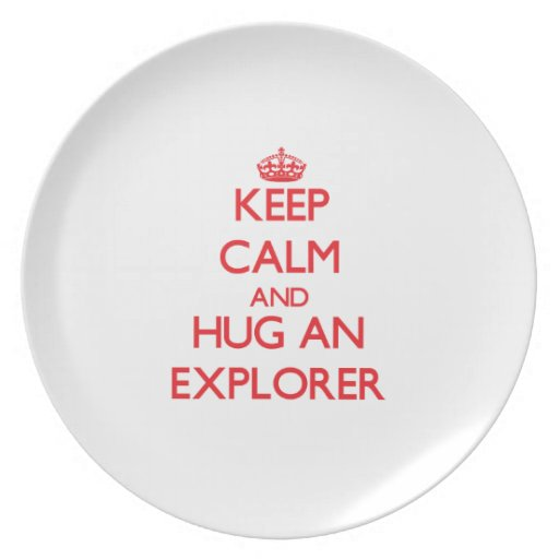 Guarde la calma y abrace a un explorador platos de comidas