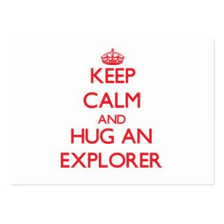 Guarde la calma y abrace a un explorador tarjeta de negocio