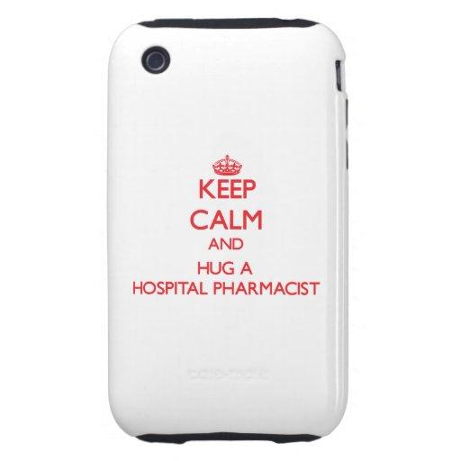 Guarde la calma y abrace a un farmacéutico del iPhone 3 tough protectores